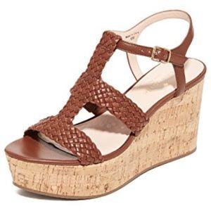 Kate Spade Tianna Woven Cork Wedge Sandals Heels